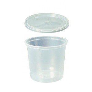 34-4 Tarrina pp 1 litro transparente +tapa