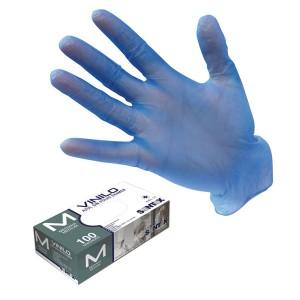 Guantes-de-vinilo-azul-sin-polvo