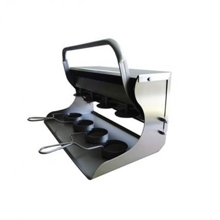 Prensa-inox-4-mini-hamburguesas redondas de 60 mm