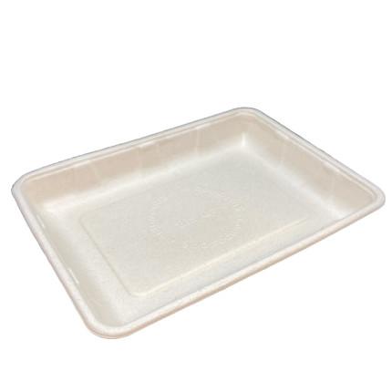 Bandeja-de-fibra-de-trigo-compostable-honda-240x180x30--Md.4D(89)-para-carne,-pescado,-fruta