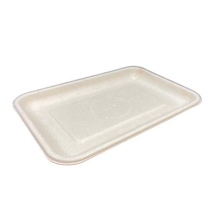 Bandeja-de-fibra-de-trigo-compostable-plana-200x140x15--Md.2S FIB-para-carne,-pescado,-fruta
